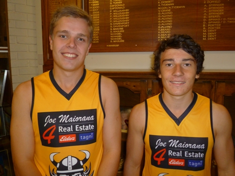 Mitchell Low (C) & Tain Smelt (VC) for U18's-web