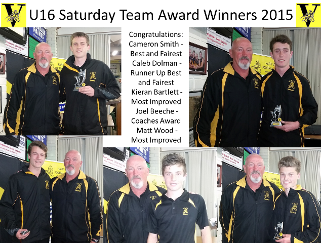 U16 Saturday Team Award Winners 2015-web
